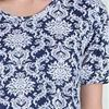 Casual Dresses - La Cera A-LIne Short Sleeve Cotton Knit in Regal Navy
