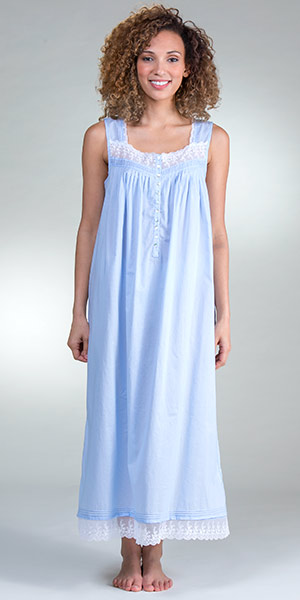 Eileen West Cotton Gown - Sleeveless Ballet in Peri Darling
