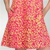 Rayon Sundresses - Treasures of Bali Sleeveless Beach Dress in Citrus Leaves