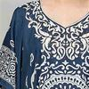 Sante V-Neck One Size Microfiber Long Kaftan in Dazzling Navy