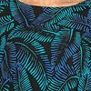 Kaftans by Bali Batik - One Size Rayon Short Sleeve Lounger in Midnight Ferns